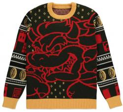 Super Mario Knitted Christmas Sweater Bowser