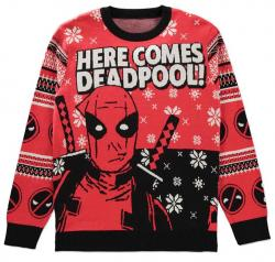Deadpool Knitted Christmas Sweater Here comes Deadpool!