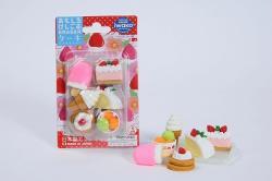 Cake & Ice Cream Eraser Set