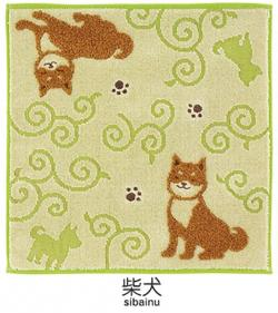 Jaquard Handkerchief Shibainu (Dog)