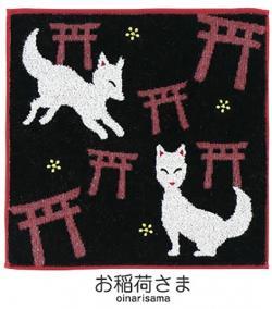 Jaquard Handkerchief Oinarisama (Temple Fox)