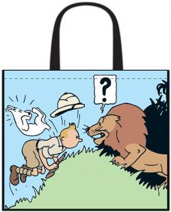 kasse, Tintin möter ett lejon