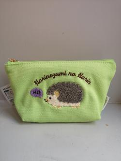Hedgehog Harin Embroidered Pouch