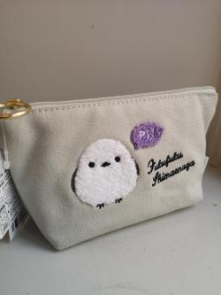Fuku Fuku Birds Embroidered Pouch: Shima-chan