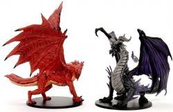 Premium Figure Adult Red & Black Dragons