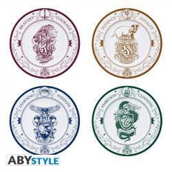 Set of 4 Plates Hogwarts Houses