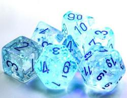 Borealis Icicle/Light Blue Luminary (set of 7 dice)