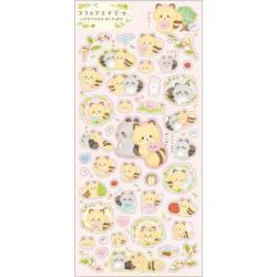 Kokoro Araiguma Stickers: Hugs Fill Your Heart