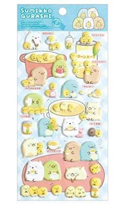 Sumikkogurashi Stickers: Shirokuma's Corn Soup