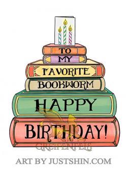 To My Favorite Bookworm Happy Birthday Card