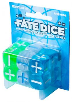 FATE Atomic Robo Dice