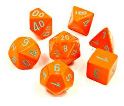 Heavy Orange/Turquoise (set of 7 dice)