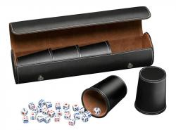 Synthetic Leather Dice Cup Set (Black)