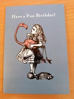 Alice Flamingo Fun Birthday Card