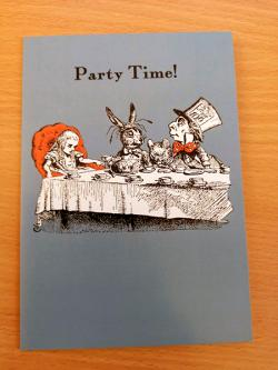 Alice Party Time Card