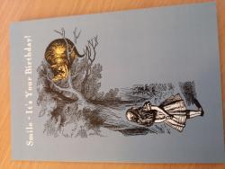 Alice Cheshire Cat Card