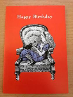 Alice Chair Happy Birthday Card