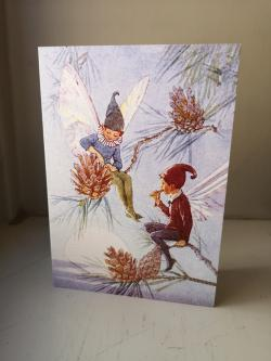 Fairy Land With Pinecone Card