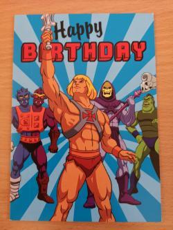 He-Man Happy Birthday Greeting Card