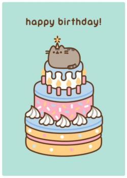 Pusheen Big Cake Card