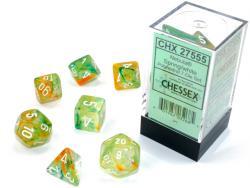 Nebula Spring/White Luminary (set of 7 dice)