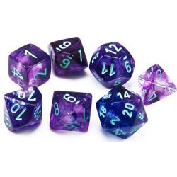 Nebula Primary/Blue Luminary (set of 7 dice)