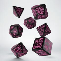 Call of Cthulhu 7th ed. Black & Magenta Dice Set