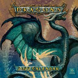 Ciruelo Dragons 2022 Wall Calendar