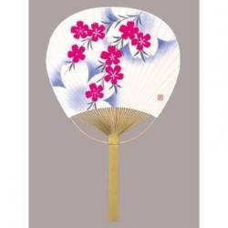 Bamboo Fan: Nadeshiko Mojou (Flower Motif)