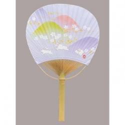 Bamboo Fan: Yume Usagi (Dream Rabbits)