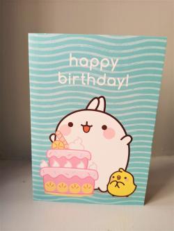 Molang Happy Birthday Cake Card