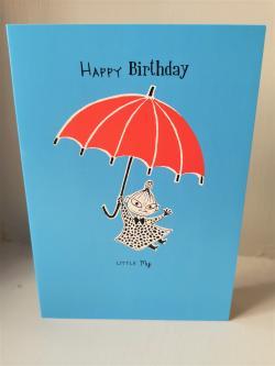 Moomin Happy Birthday Little My Card