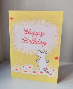 Moomin Flowers Happy Birthday Card