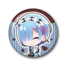 Choi Deka Can Badge Rem (Valentine Ver.)