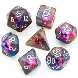 Dragon Eyes Purple Dice (set of 7 dice)