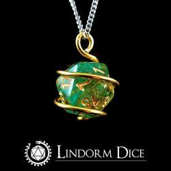 D20 Dice Necklace Loki