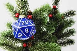D20 Ornament Blue