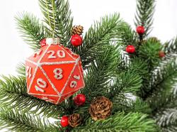 D20 Ornament Red