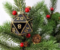 D20 Ornament Black