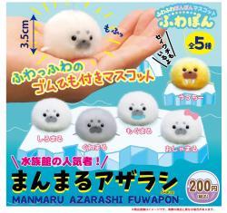 Manmaru Azarashi Plush Mini: Fuwapon (Capsule)