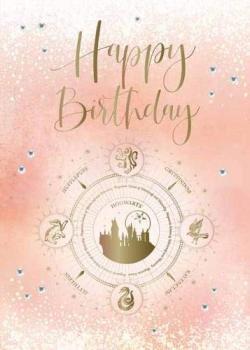 Embellished Card Hogwarts Constellation Birthday