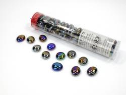 Iridized Opal Black Glass Stones
