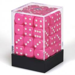 Opaque Pink with White Dice Block (36 d6)