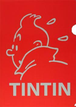 Plastmapp - Tintin ansikte röd