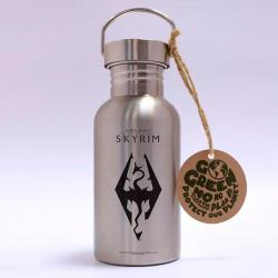 Skyrim Stainless Steel Eco Bottle Dragon Symbol