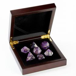 Amethyst Dice Set
