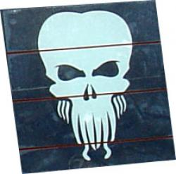 White Cthulhu Window Decal Sticker