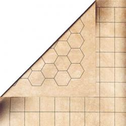 "Battlemat - Megamat with 1"" Hexes & 1"" Squares"