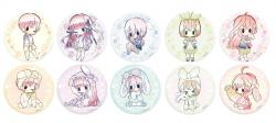 The Quintessential Quintuplets Retro Style Can Badge