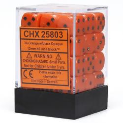 Opaque Orange with Black Dice Block (36 d6)
